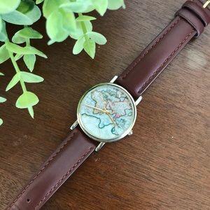 Leather Atlas Wristwatch